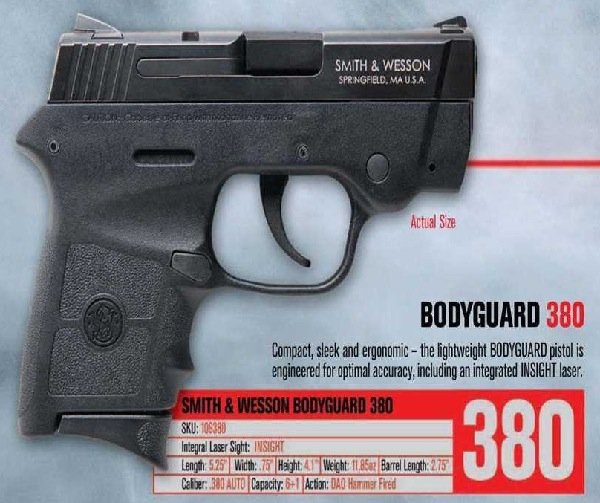 Smith & Wesson Bodyguard .380 Pistol