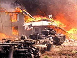 Waco tanks and fire
