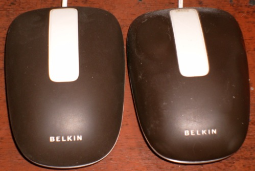 Old and new Belkin Washable mice
